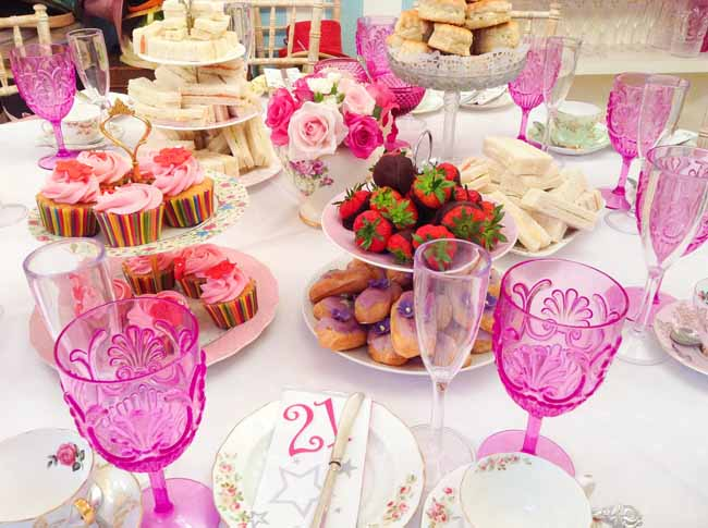 21st Birthday Afternoon Tea Party