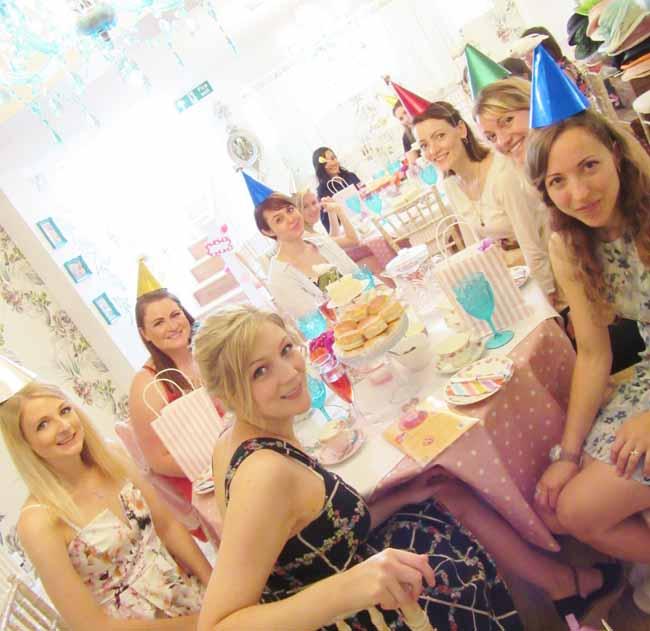 Birthday Girls celebrating at Tea Party Kentish Town