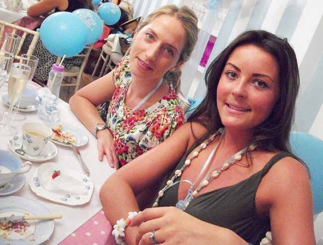 Girls-having-fun-at-Blue Baby Shower Tea Party Private Venue