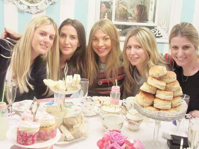 Ladies enjoying Baby Shower Tea Party