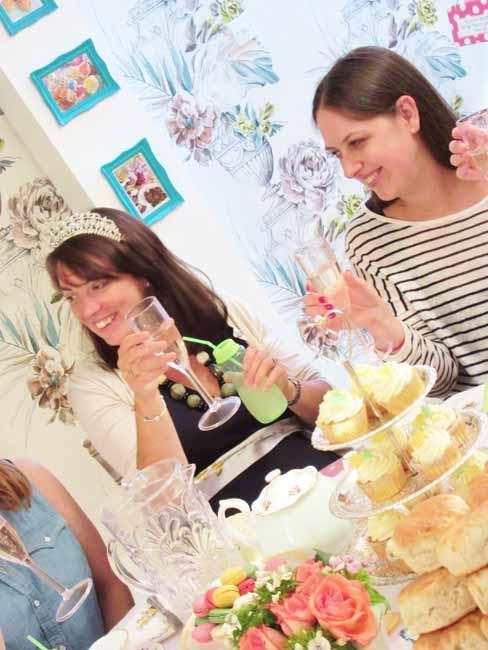 Lemon Green Baby Shower Tea Party