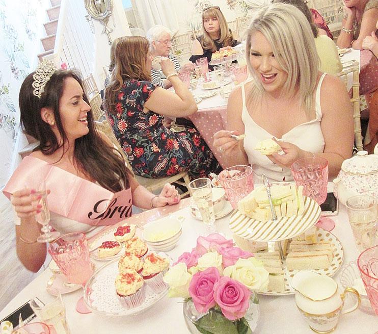 tea party hen party london